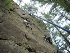 Rock Climbing Photo: Curse to the left.    End of innocence to the righ...