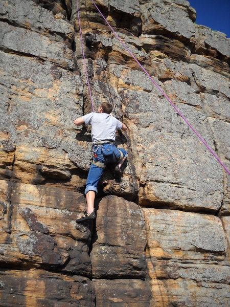 Rock Climbing Photo: The route description is perfect super chossy... m...