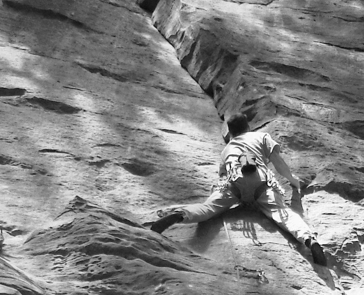 Rock Climbing Photo: Sizing up the nice dihedral.