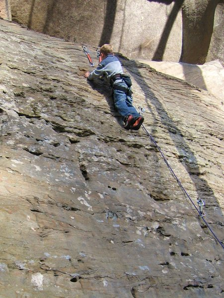 Rock Climbing Photo: Clipping anchors for the first time.