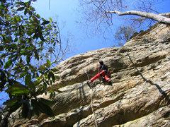 Rock Climbing Photo: At the notable bulge.
