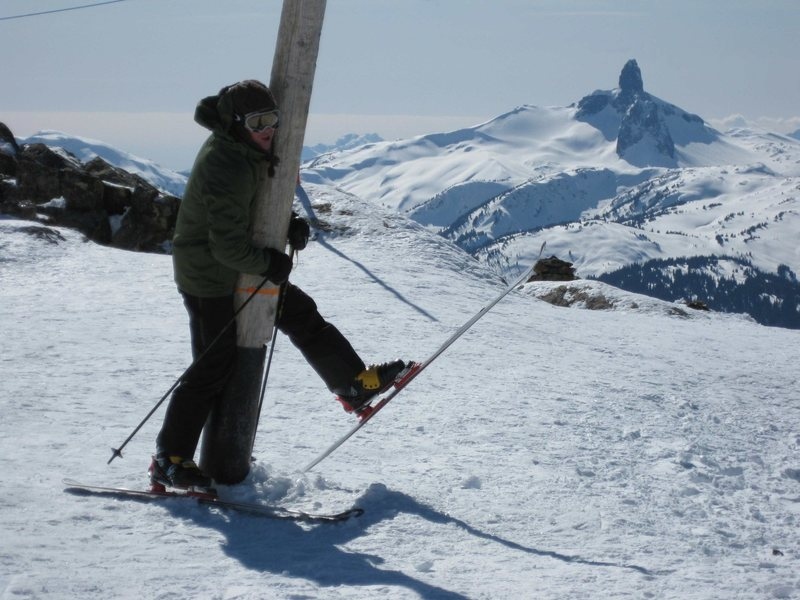 Rock Climbing Photo: OOOF!  That's the Black Tusk in the background, as...