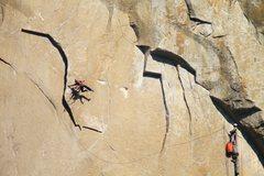 Rock Climbing Photo: Callum and I on The Molar Traverse. Photo: Tom Eva...