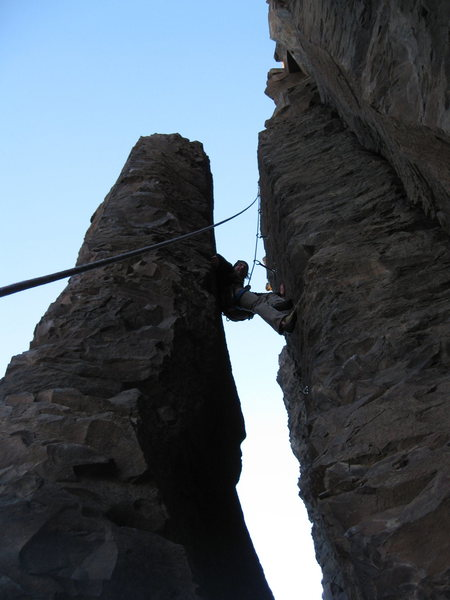 Rock Climbing Photo: Awesome chimney route