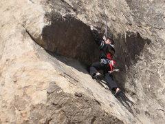 Rock Climbing Photo: Me on SW Corner