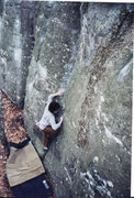 Rock Climbing Photo: Earth, Wind and Fire V3 Horse Pens 40  Spring 2003