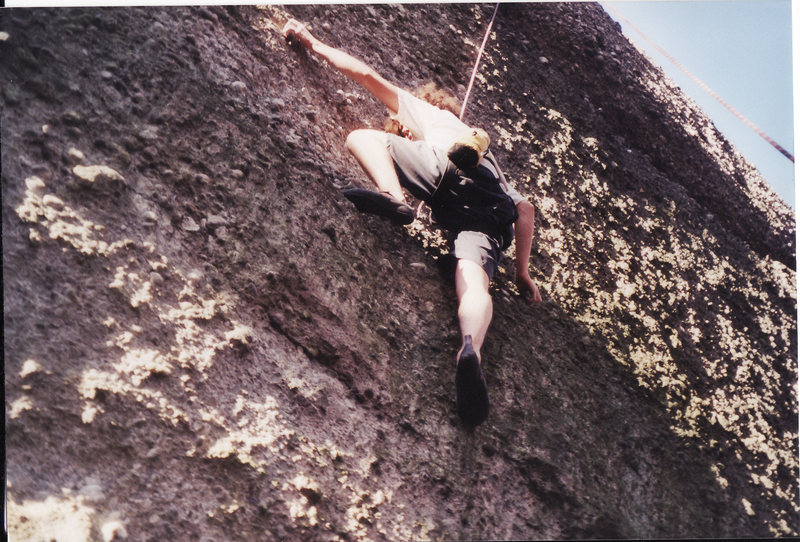 Toprope face climb on the main wall circa 2000 5.9-5.10
