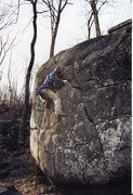 Rock Climbing Photo: Zach France on a below freezing ascent of the Warm...