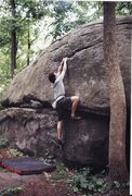 Rock Climbing Photo: A favorite V2 at Governor's Stable, a privately ow...
