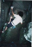 Rock Climbing Photo: Halloween Roof first ascent 7/15/2001, Mt. Gretna....