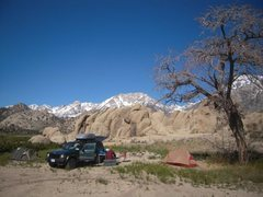 Rock Climbing Photo: The best camp site in the world by the Buttermilks...