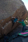 Rock Climbing Photo: Ronnie J working up the upper face