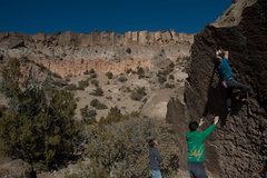 Rock Climbing Photo: Ronnie J fixing the hand sequence
