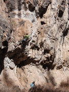 Rock Climbing Photo: Eric Whitbeck working through the lower physical c...