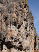 Rock Climbing Photo: Eric Whitbeck working his way through the upper cr...