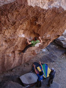 Rock Climbing Photo: Matthew NM moving into the crux of the Tall Cool R...