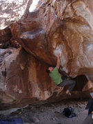 Rock Climbing Photo: Matthew NM trying to stick the first and hardest m...