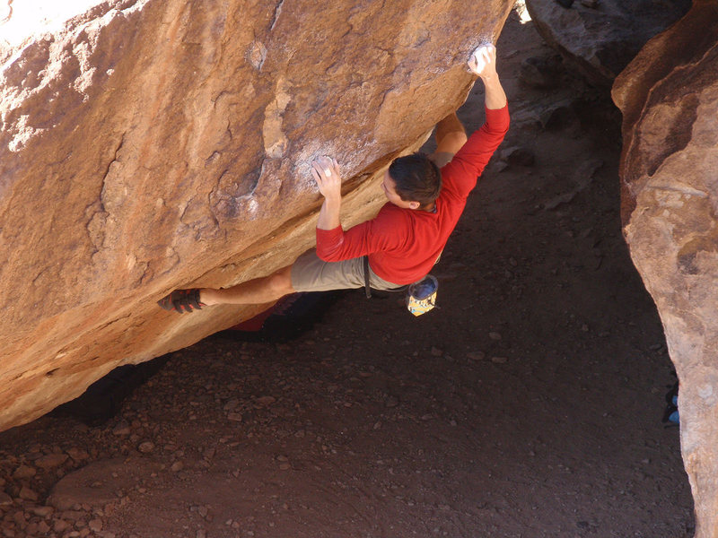 Trying to avenge cratering off the heal hook, those crimps are pretty sharp at the end of the day.