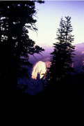 Rock Climbing Photo: Tehipite Dome at sunrise, seen from camp under The...