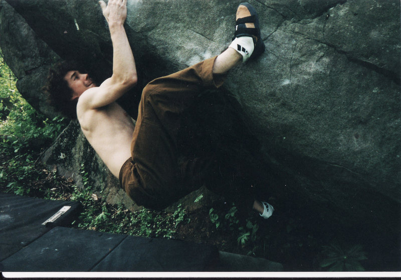 The One With Everything (V8) State Game Lands Parking Lot area Mt. Gretna<br> <br> Fourth ascent May 4, 2002