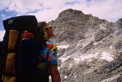 Rock Climbing Photo: Guy Keesee on the approach. The East Face of Mt. H...