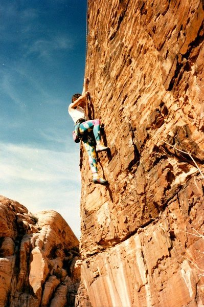 Rock Climbing Photo: The FA of Dog Logic (5.11b), Red Rock   Photo by T...