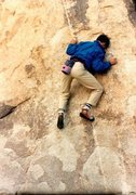 Rock Climbing Photo: Bouldering at Trashcan Rock, Joshua Tree NP  Photo...