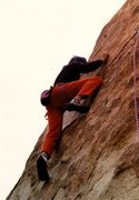 Rock Climbing Photo: Love Comes in Spurts (5.10d), Joshua Tree NP. Phot...