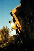 Rock Climbing Photo: Right Arete (V2), Stoney Point  Photo by Tim Fearn...