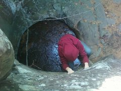 Rock Climbing Photo: Peter on Primordial Soup