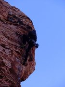 Rock Climbing Photo: Leading in Las Vegas (Red Rocks)