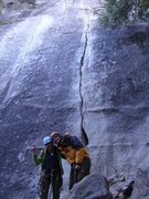 Rock Climbing Photo: Lina and I @ Jam Crack - Sunnyside Bench - Yosemit...