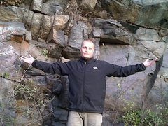 Rock Climbing Photo: Me minus about 20 lbs. By now!