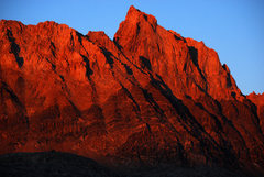 Rock Climbing Photo: Profile of Mt. Humphreys and Hutchinson Route take...