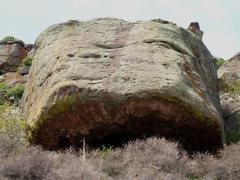 Rock Climbing Photo: Cave Boulder's east overhang.