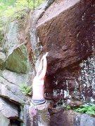 Rock Climbing Photo: Nearing the Scoop.