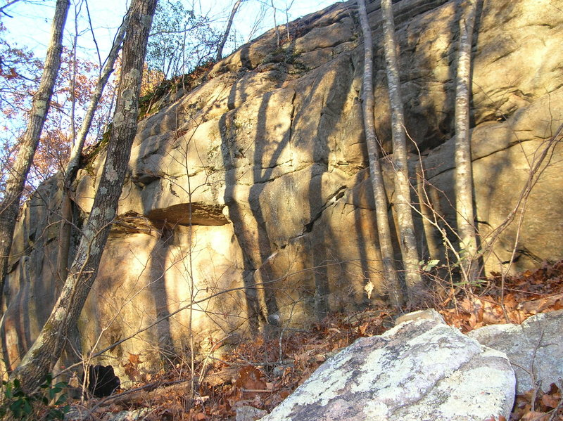 Rock Climbing Photo: Roadside Wall at Mt. Tom.