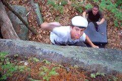 Rock Climbing Photo: Making the move.