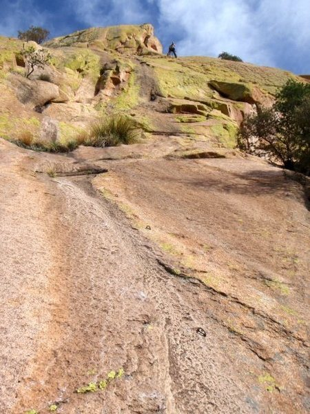 Rock Climbing Photo: 3rd Pitch of Ewephoria... My slab pitch!