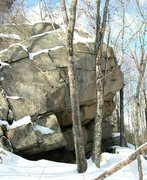 Rock Climbing Photo: Route runs just to the right of the tree in the mi...