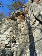 Rock Climbing Photo: Slabby 5.11 (if memory serves!), shot right up it....