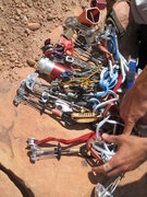 Rock Climbing Photo: A part of the rack.  Two sets of cams now, still p...