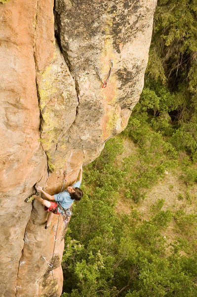 Rock Climbing Photo: Richard Boyle working his way through the middle s...