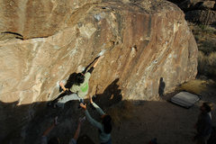 Rock Climbing Photo: Linda looking challenged...maybe vertically.