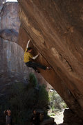 Rock Climbing Photo: Chris E high in the corner and approaching the hea...