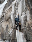 Rock Climbing Photo: Wyatt Payne ticks pitch four Far Right on Glenwood...