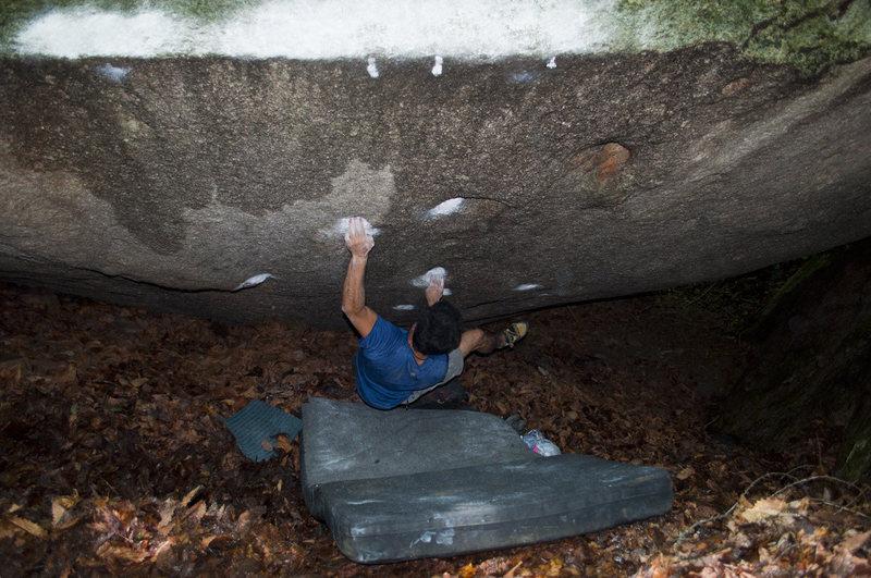 Rock Climbing Photo: Large roof, Mizugaki.