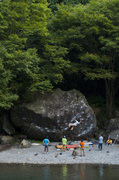 Rock Climbing Photo: Ninja boulder, Mitake