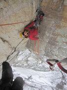 Rock Climbing Photo: Top of pitch 2 belay