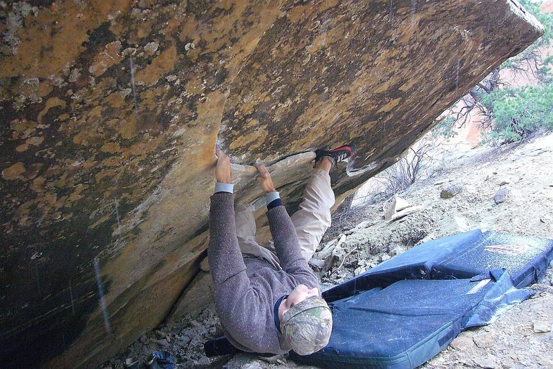 Rock Climbing Photo: LDY on Tabeuache V4